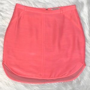 Madewell electric pink tuxedo mini skirt Size 6